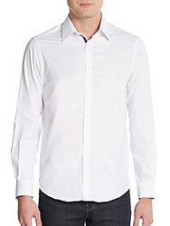 Report Collection Regular Fit Contrast Cuff Sportshirt White