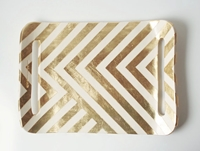 Gold Zag Tray Par Upintheairsomewhere Sur Etsy