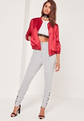 Missguided Ankle Strap Jogger Grey Grey