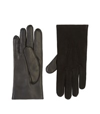 Harrods Of London Suede Panel Gloves Unisex