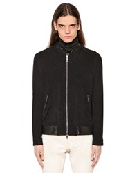 John Varvatos Wool Cloth Biker Jacket