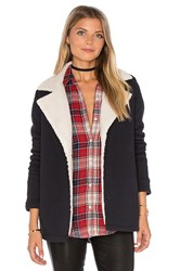 Velvet By Graham And Spencer Arie Jacket With Faux Fur Lining Black