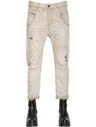 Diesel Fayza Destroyed Cotton Denim Jeans