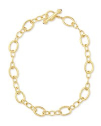 Elizabeth Locke Hammered 19K Garda Link Necklace 17 L