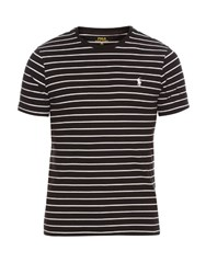Polo Ralph Lauren Striped Cotton T Shirt Black Multi