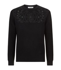 Valentino Embellished Star Stud Jumper Male Black