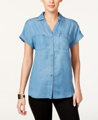 Styleandco. Style And Co. Petite Button Down Denim Shirt Only At Macy's