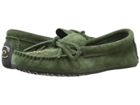 Manitobah Mukluks Canoe Moccasin Suede Moss Women's Moccasin Shoes Green