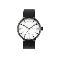 Bravur Watches Black With White Face And Black Strap