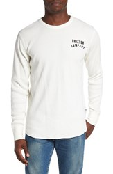 Brixton Men's 'Woodburn' Waffle Knit Thermal T Shirt Off White