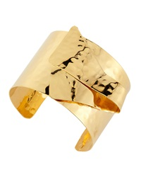 Devon Leigh 18 K Gold Plated Hammered Cuff