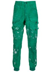 Prps Distressed Cargo Trousers Green