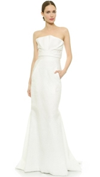 J. Mendel Mermaid Gown With Draped Bustier Pristine