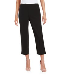 T Tahari Karli Cropped Wide Leg Pants Black