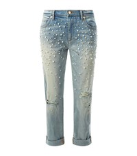 Juicy Couture Embellished Boyfriend Jeans Female