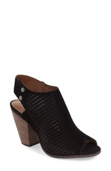 Women's Arturo Chiang 'Janel' Perforated Slingback Sandal Black Suede