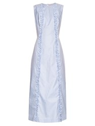 The Vampire's Wife Bonnielee Cotton Midi Dress Light Blue