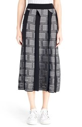 Kenzo Women's 'Ny Stripes' Silk And Cotton Jacquard Knit Skirt