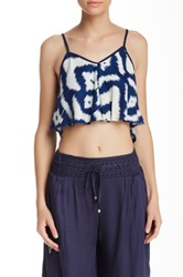 Angie Cropped Flare Tank Multi