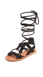 Ash Peace Wrap Sandals Black
