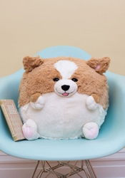 Home And Gifts Plush One Pillow In Corgi