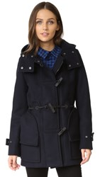 Hunter Women's Original Bonded Wool Duffel Coat Navy