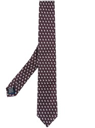 Paul Smith Embroidered Bunny Tie Pink And Purple