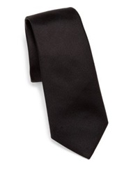 Theory Roadster Bradford Silk Tie Black