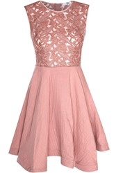 True Decadence Lace Skater Prom Dress Pink