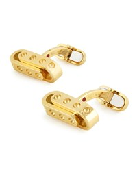 Pois Moi 18K Yellow Gold Round Links Cuff Links Roberto Coin