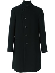 Armani Collezioni Off Centre Button Coat Black