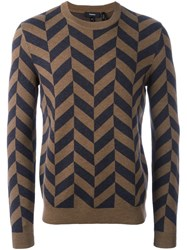 Theory Chevron Effect Jumper Nude Neutrals