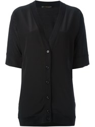 Agnona Short Sleeve Knit Jacket Black