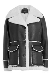 Derek Lam Leather And Shearling Jacket Black