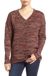 Kut From The Kloth Women's 'Navaeh' Elbow Patch V Neck Sweater