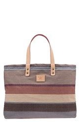 Will Leather Goods 'Weaver's House' Reversible Canvas Tote Grey Grey Maroon