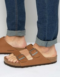 Birkenstocks Arizona Nubuck Sandals Tan