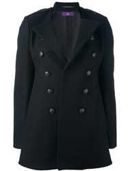Y's Stand Collar Coat Black