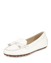 Michael Michael Kors Daisy Patent Bow Moccasin Optic White