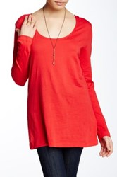 Joan Vass Long Sleeve Tee Red