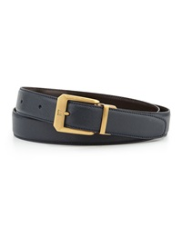 Reversible Belt With 18K Brass Buckle Dunhill