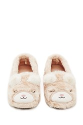 Forever 21 Mouse Slippers Beige