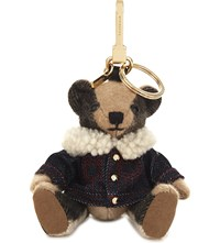 Burberry Thomas Bear Cashmere Charm With Rucksack 12Cm Camel