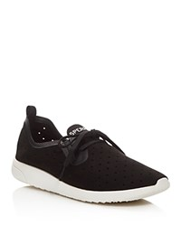 Sperry Swell Emmy Perforated Lace Up Sneakers Black