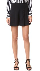Alice Olivia Winslet Pleated Shorts Black
