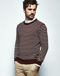 The Idle Man Jumper With Stripe Red