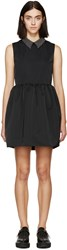 Mcq By Alexander Mcqueen Black Studded Collar Party Dress