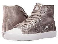 Gola Coaster High Metallic Pewter Pewter Women's Shoes Gray