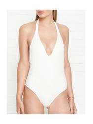Vix Swimwear Solid Snake Texture Swimsuit Off White