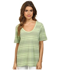 Splendid Nairobi Stripe Tee Honeydew Women's T Shirt Yellow
